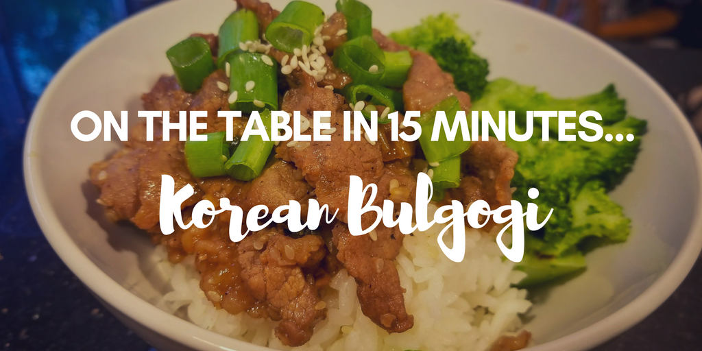 Korean bulgogi - such an easy and fast dinner. Plus, a great way to introduce kids to new flavors.