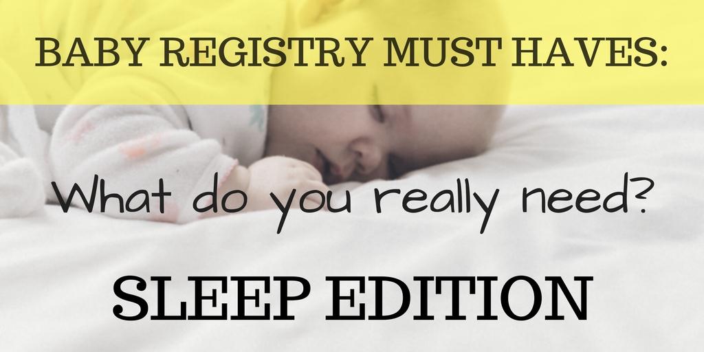 Baby Registry Sleep Items Crib Swaddle Monitor