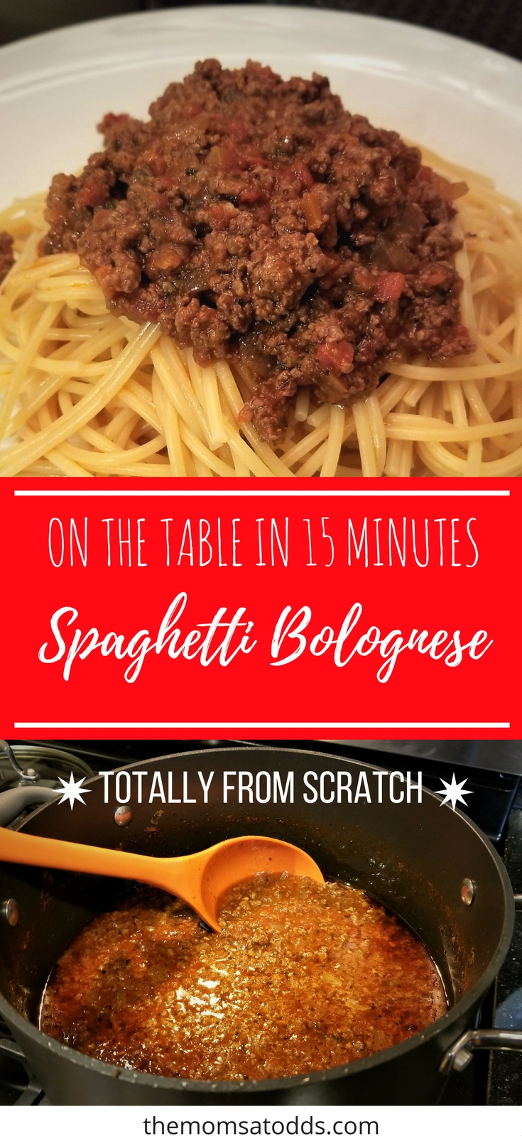 The BEST spaghetti bolognese - so easy and it freezes great!