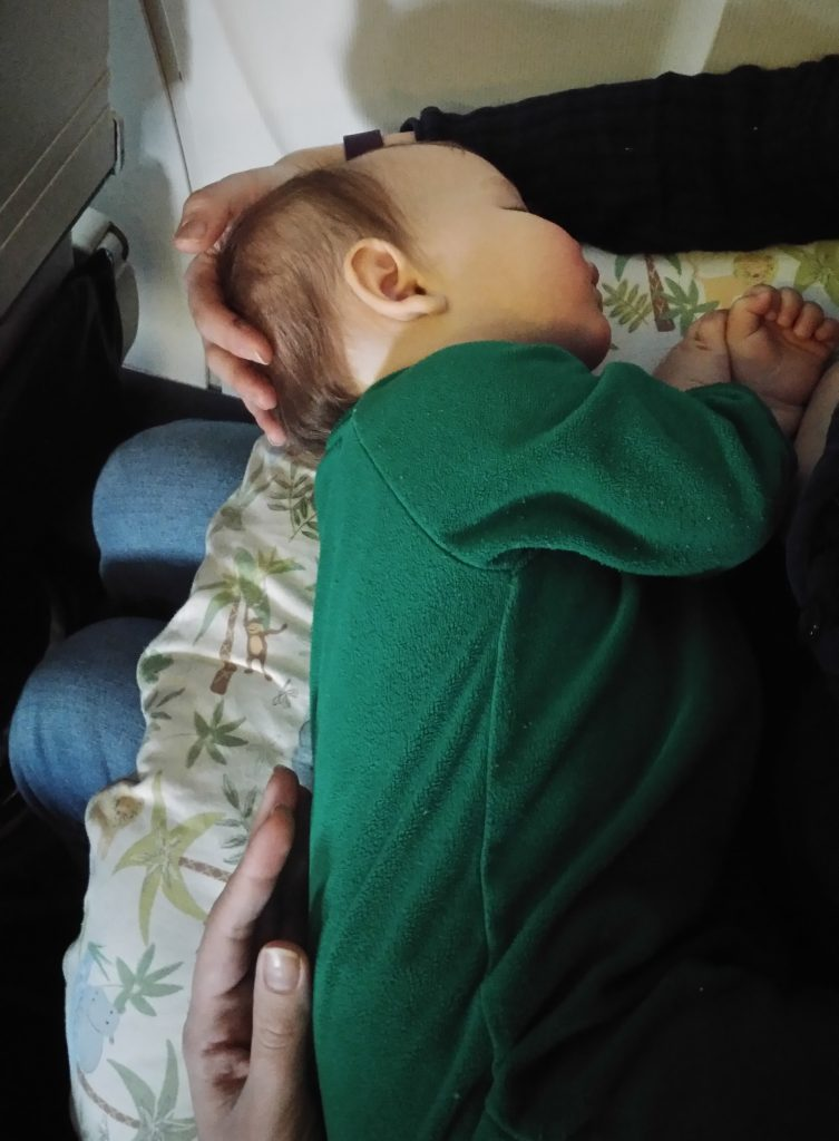 Boppy on the airplane