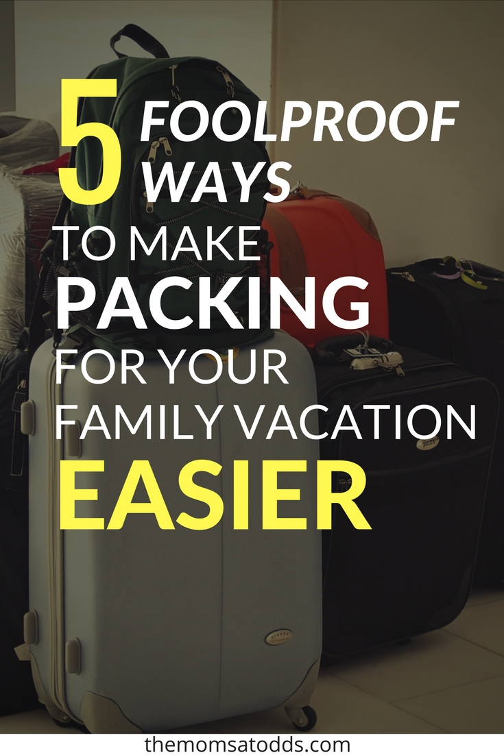 5 of the BEST Travel Packing Tips and Tricks for Families