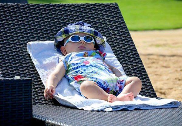 UV protection for babies. Bathing Suits, Hats.