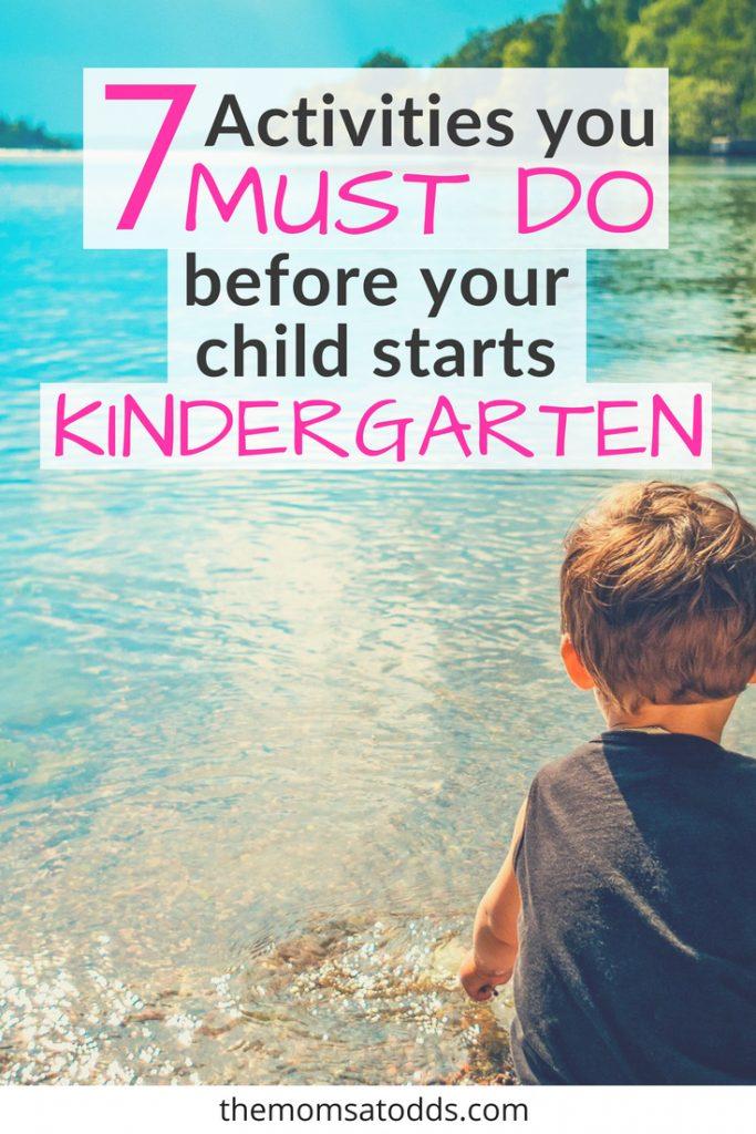 An Amazing Before Kindergarten Checklist