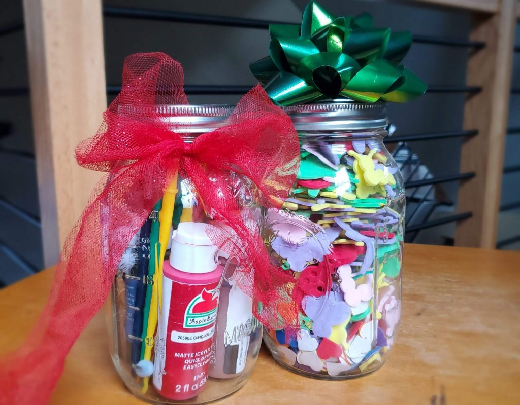 Mason jars can be a fun wrapping paper alternatives