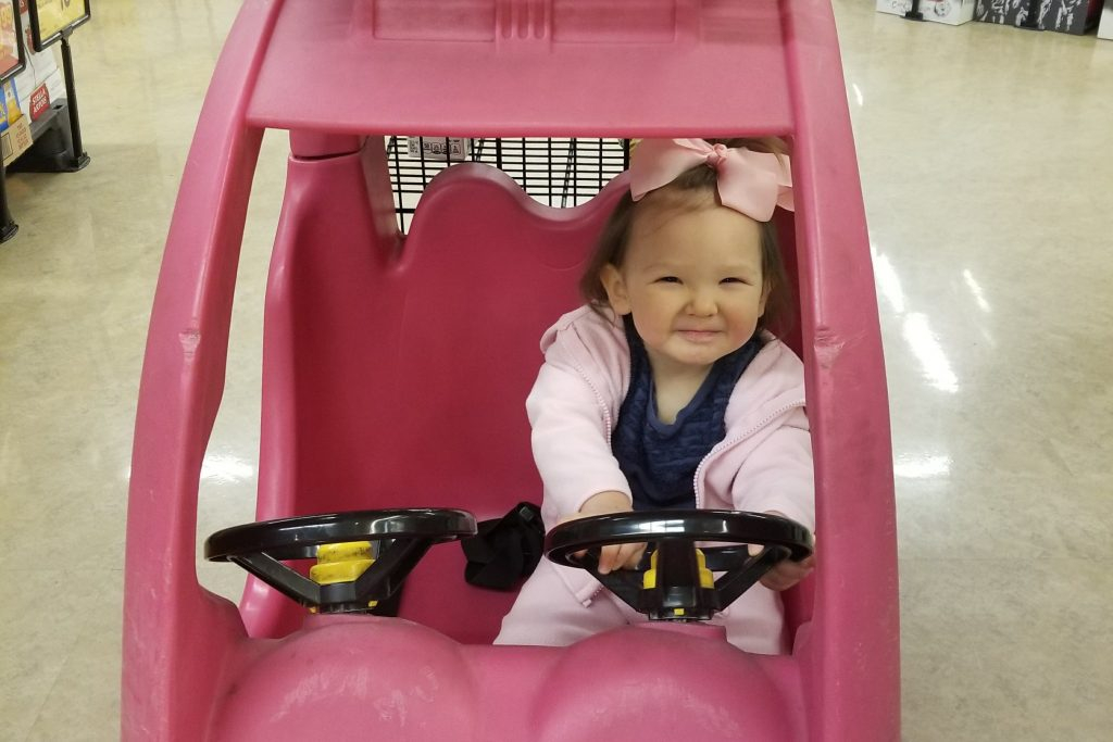 Kids carts for grocery shopping with toddlers
