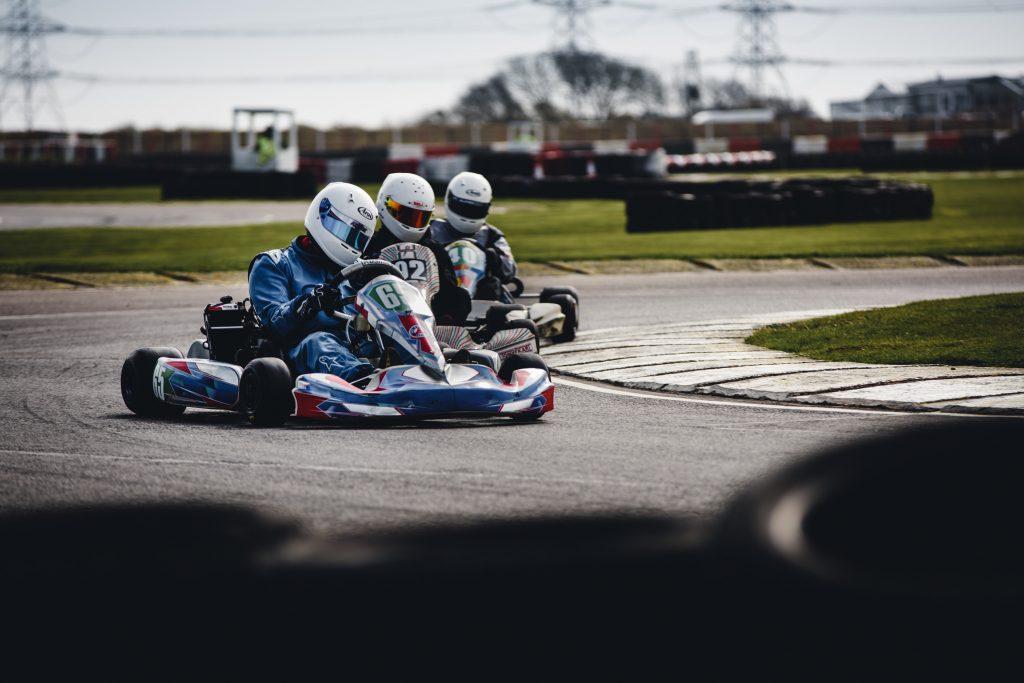 Dads love go-karting