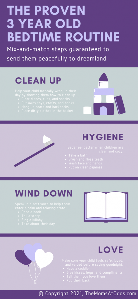 A Comprehensive 3 year old bedtime routine chart