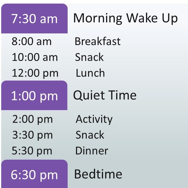 A 3 year old sleep schedule with no nap
