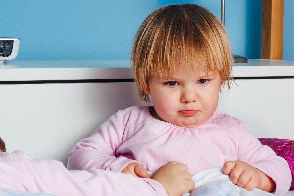 Mad toddler girl