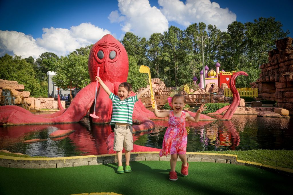 Mini golf passes can be great Christmas gifts for siblings to share