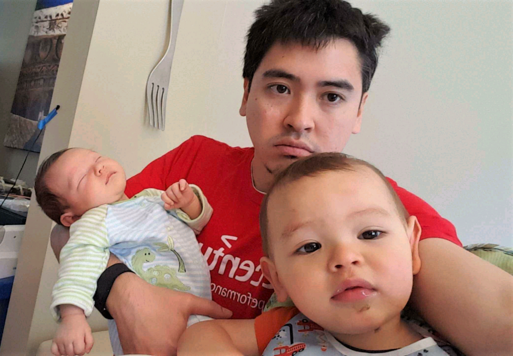 dad struggling with how to survive with a toddler and newborn
